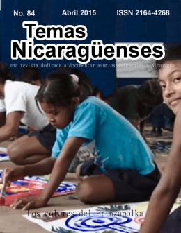 Revista de Temas Nicaragüenses No. 84