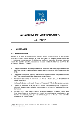 MEMORIA DE ACTIVIDADES año 2002