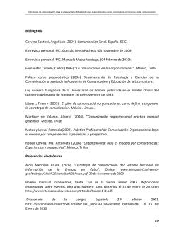 Bibliografía Cervera Santoni, Ángel Luis (2004), Comunicación