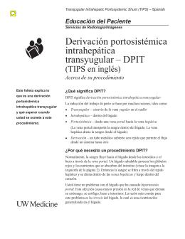 Derivación portosistémica intrahepática transyugular – DPIT