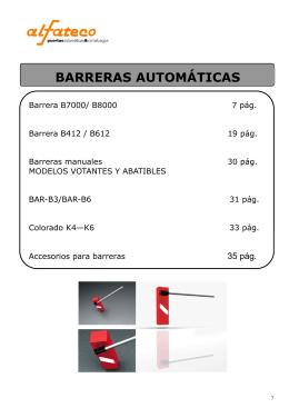 Catálogo técnico barreras