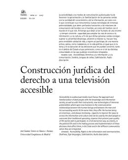 Construcción jurídica del derecho a una televisión accesible
