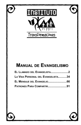 MANUAL DE EVANGELISMO - Missions to Latin America