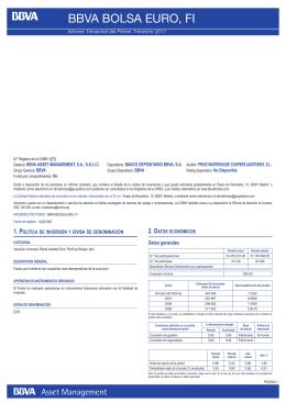 BBVA BOLSA EURO, FI - BBVA Asset Management