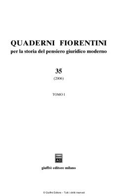 Volume completo - Centro Studi per la Storia del Pensiero Giuridico