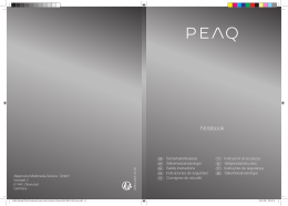 Safety Manual PEAQ Notebook Generic built-in battery