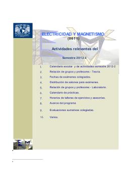 Folleto EyM 2012-2 - División de Ciencias Básicas