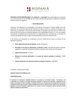 Firma de contrato de liquidez con Beka Finance, SV, S.A.