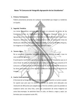 """Bases """"IV Concurso de Fotografía Agrupación de los Estudiantes"""""""