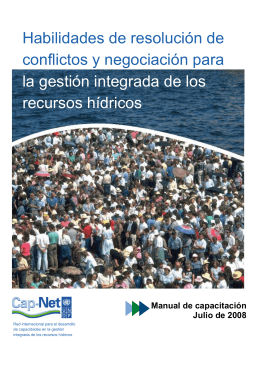 Manual Resolución de conflictos para la GIRH - La