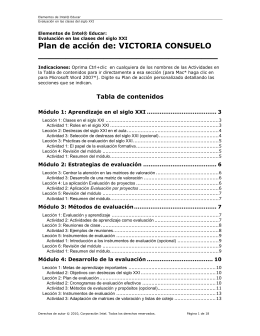 Plan de acción de: VICTORIA CONSUELO