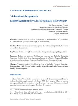 3.1. Estudios de Jurisprudencia RESPONSABILIDAD CIVIL EN EL