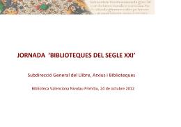 Biblioteques digitals. Bivaldi i Europeana. Nuria Martínez