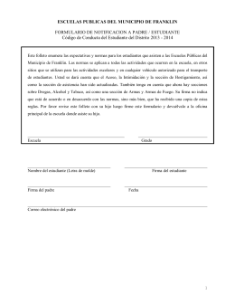 Código de Conducta del Estudiante