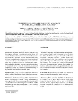 perspectivas del sistema de producción de manzano en chihuahua