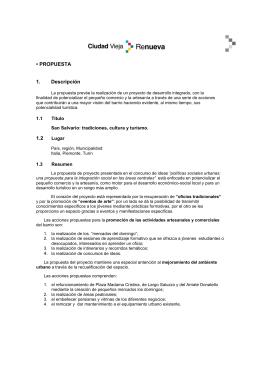 • PROPUESTA 1. Descripción 1.2 - Centro de Documentación del
