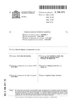 FIBRAS DE ALGINATO, SU PREPARACION Y SU USO.(ES2196071)