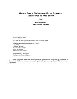 Manual Para la Sistematización de Proyectos