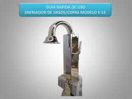 2.indicaciones de uso enfriador de vasos/copas modelo s-12