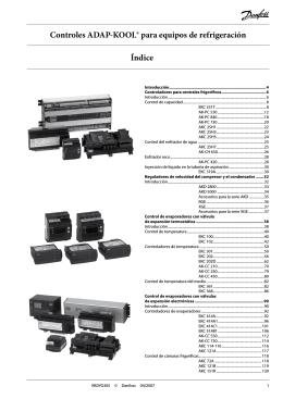 Índice Controles ADAP-KOOL® para equipos de