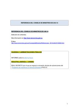 1 REFERENCIA DEL CONSEJO DE MINISTROS DE 20-6