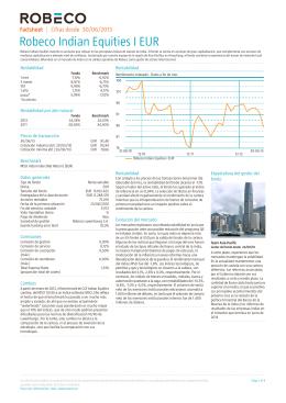Robeco Indian Equities I EUR