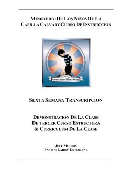 SEXTA SEMANA TRANSCRIPCION