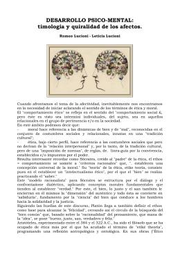 DESARROLLO PSICO-MENTAL: timologia y