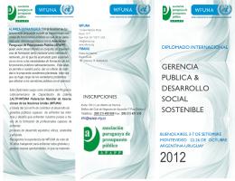 gerencia publica & desarrollo social sostenible