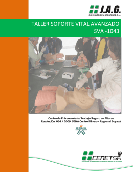 TALLER SOPORTE VITAL AVANZADO SVA -1043