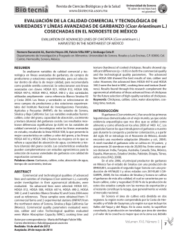Artículo Completo - Revista BIOtecnia