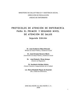 introducción a la primera edición - Ministerio de Salud Pública y