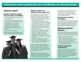 Información sobre graduación para estudiantes con discapacidades