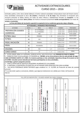 Ficha Inscripción