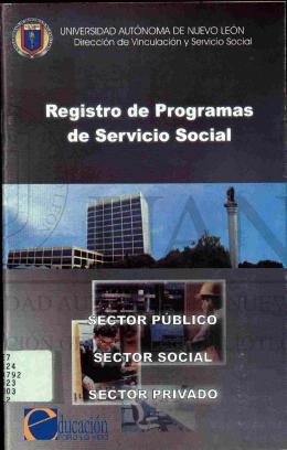 Registro de programas de servicio social