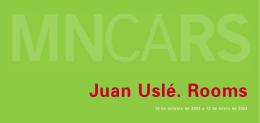 Folleto de Juan Uslé. Rooms - Museo Nacional Centro de Arte