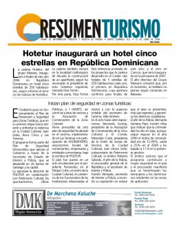 Hotetur inaugurará un hotel cinco estrellas en República Dominicana