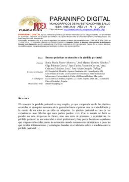 REUNIONES CIENTIFICAS DE LA FUNDACION INDEX