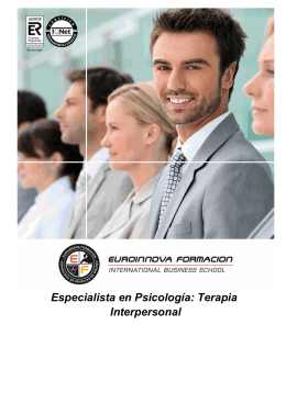Especialista en Psicología: Terapia Interpersonal