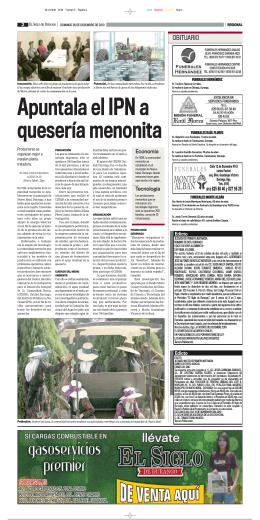 OBITUARIO - El Siglo Durango