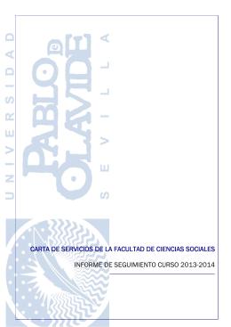 Informe de Seguimiento de la Carta de Servicios curso 2013/2014