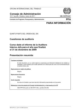 Cuestiones de auditoría - Curso dado al informe de la