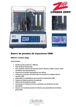 Banco de pruebas de inyectores CRDI