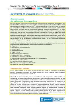 Naturaleza en la ciudad II - Educar hoy por un Madrid más sostenible