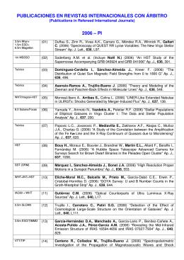 publicaciones en revistas internacionales con árbitro 2006