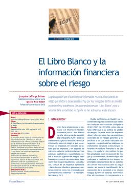 El Libro Blanco y la información financiera sobre el riesgo