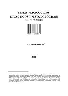 LIBRO TEMAS PEDAGOGICOS ALEXANDER ORTIZ