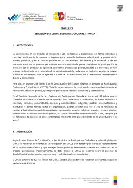 Condiciones logísticas del evento público de rendición de cuentas