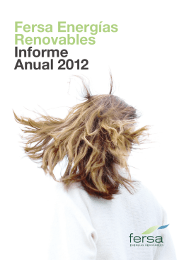 Fersa Energías Renovables Informe Anual 2012