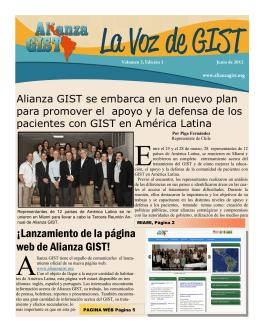 ¡Lanzamiento de la página web de Alianza GIST!
